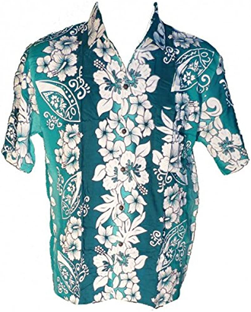 Camisa hawaiana Tribal Surf verde Large: Amazon.es: Ropa y accesorios