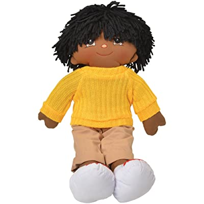"18"" Black Boy Preschool Pal Rag Doll: Toys & Games"