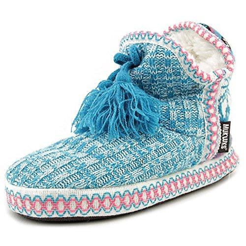Muk Luks Mujeres 16427 Con Puntera Cerrada En Zapatillas Blue Multi