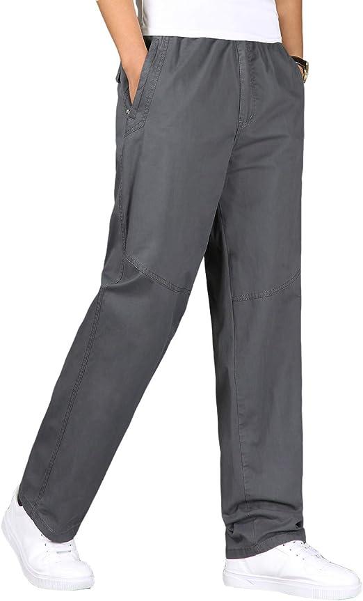 Pantalones Hombre Pantalón Casual para Hombre de Algodón con ...