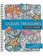 Color & Frame - Ocean Treasures (Adult Coloring Book)