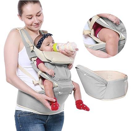 3 en 1 Multifuncional portador de bebé Recién nacido Niñito Portador Funcional Llevar Mochila Asiento con Cadera Asiento y capucha para Niño Ideal ...
