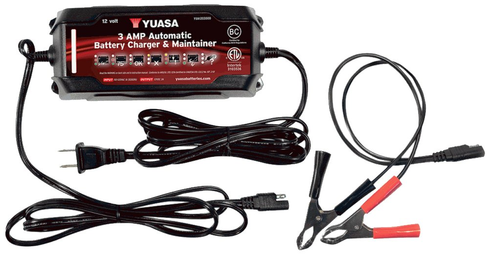 Yuasa YUA1203000 3 Amp Automatic Battery Charger and Maintainer