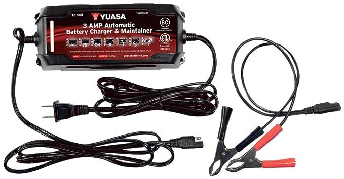 Amazon.com: Yuasa yua1203000 3 Amp Cargador y mantenedor de ...