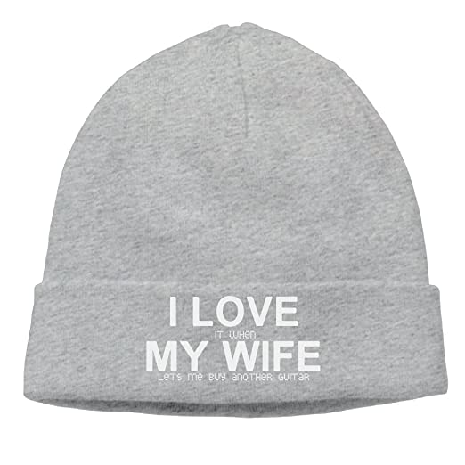 c50e3a0084d SEVENJIA I Love It When My Wife Lets Me Buy Another Guitar Soft Knit Beanie  Hat