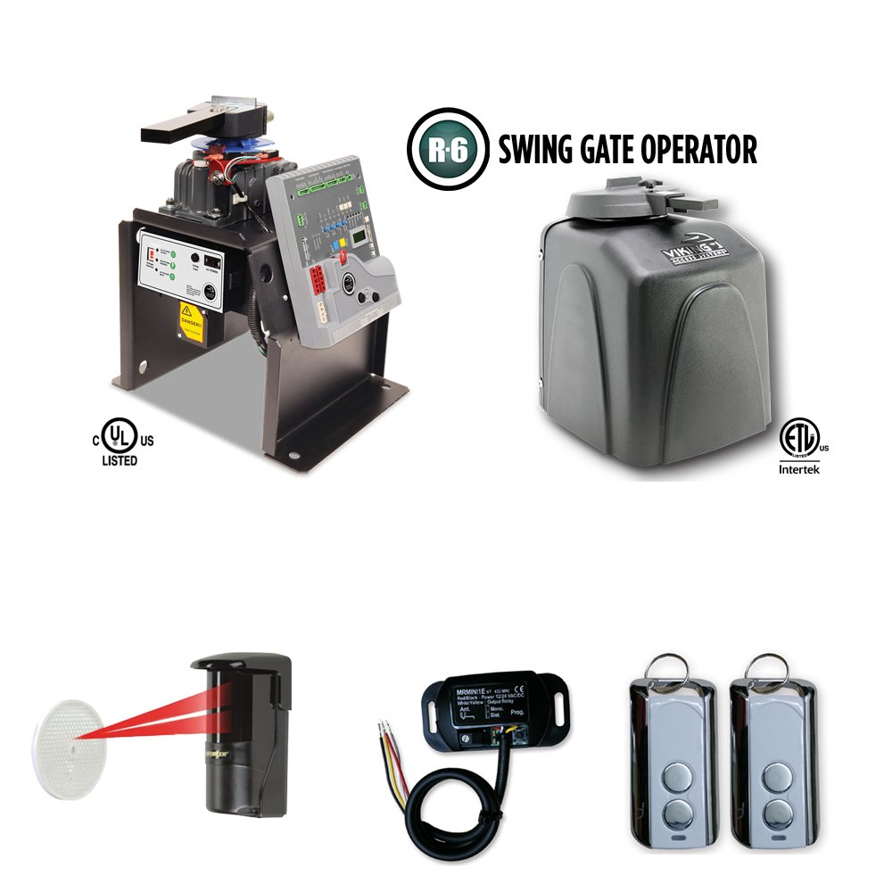 Viking R6 Residential Gate Openers Access System Safety Photocell, Receiver & Transmitter