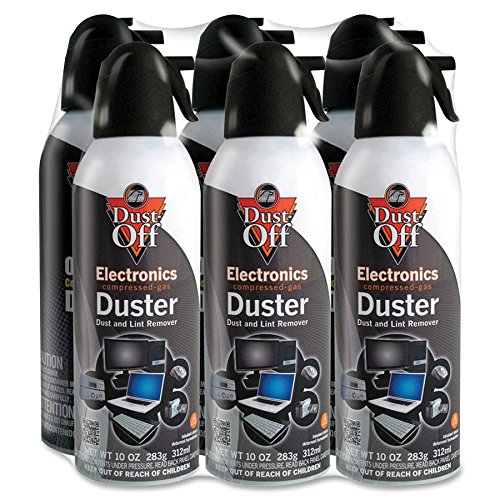 Falcon Dust-Off DPSXL6 XL Compressed Gas Duster - Ozone-safe, Moisture-free - (Dust Free Duster)