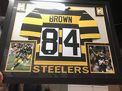 info for 002cb ce7bf Antonio Brown Pittsburgh Steelers Framed Autographed Signed ...