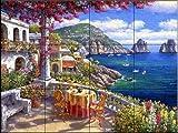 Ceramic Tile Mural - Capri Morning - by Sam Park/Soho Editions - Kitchen backsplash / Bathroom shower