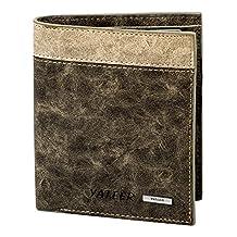 Huata Wallets Mens Wallet Short PU Wallet 3 style Clip Wallets for Men