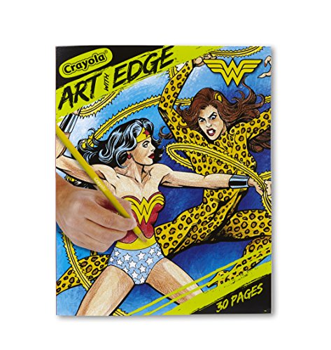 Crayola Wonder Woman Coloring Pages, Art with Edge, 30 Count (Art Book Original Comic)