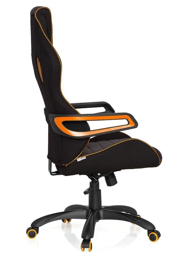 hjh OFFICE Racer Pro III Sillón de Oficina Racing, Gris Y Naranja, 32x90x65 cm: Amazon.es: Hogar