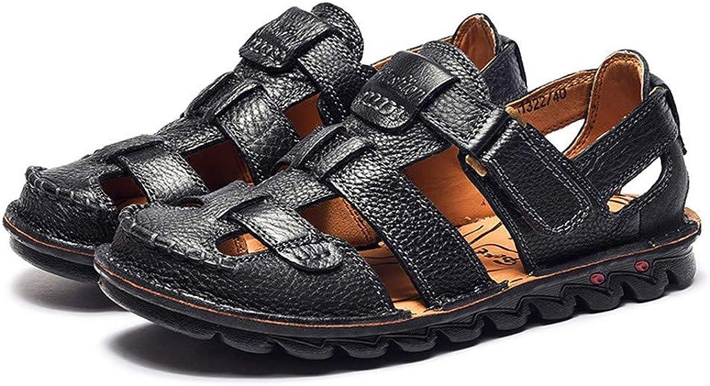 Sandalias de Deporte de Verano para Hombre, ZARLLE Hombre Sandalias de Cuero Pisos Playa para Caminar Antideslizante Suave Parte Inferior Zapatos Casuales: Amazon.es: Ropa y accesorios