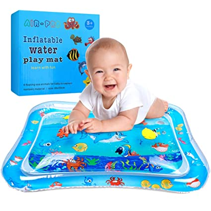 Inflatable Water Play Mat For Infants Toddlers Fun Tummy Time Play