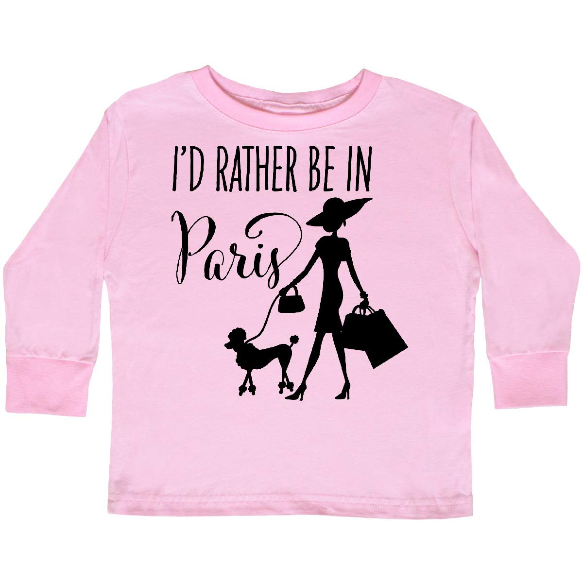 Shopping and Toddler Long Sleeve T-Shirt inktastic Id Rather Be in Paris