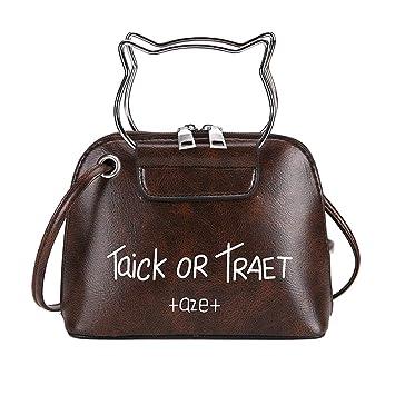 776fa2c21 NEARTIME Messenger Bag, Women Letter Print Zipper Handbags Cat Ear Handle Pattern  Shoulder Crossbody Bags