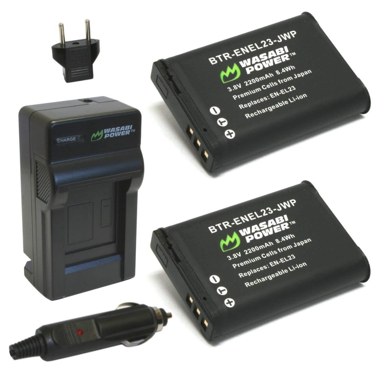 Amazon.com: Wasabi energía de la batería (2-Pack) y cargador ...