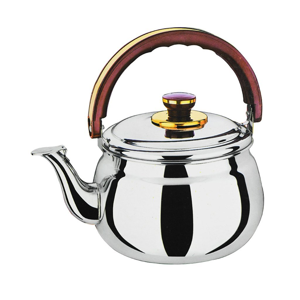 Homyl Whistling Kettle Stainless Steel Coffee Juice Tea Teapot Cookware Silver - 1.0L