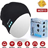 Bluetooth Hat for Women,Sunnywoo Wireless Bluetooth Beanie Musical hat with Stereo Speaker and MIC 4 Hours Working Time for O