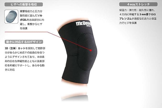 McDavid Wrestlers Knee Pad Black Small McDavid 410R-BS-S