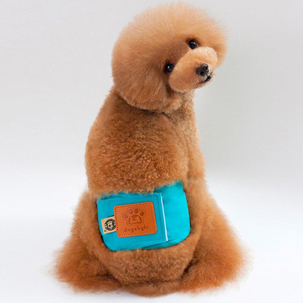 UEETEK Pañales para Perros Macho Mascotas Machos Lavable (Verde) size M: Amazon.es: Productos para mascotas