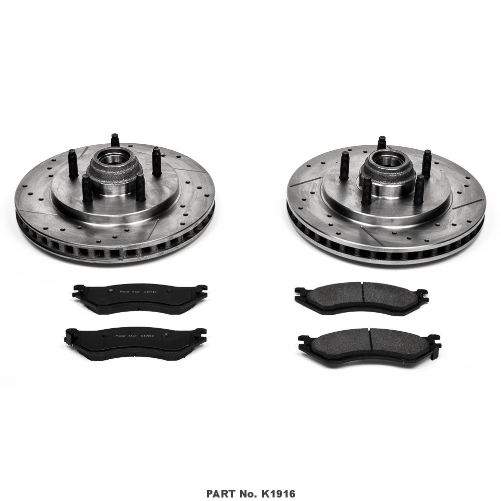 Power Stop K1916 Front Z23 Evolution Brake Kit with Drilled//Slotted Rotors and Ceramic Brake Pads