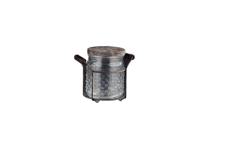 Diamond Star Glass 5.5x4.5x5.5 clear Jar W//Lid