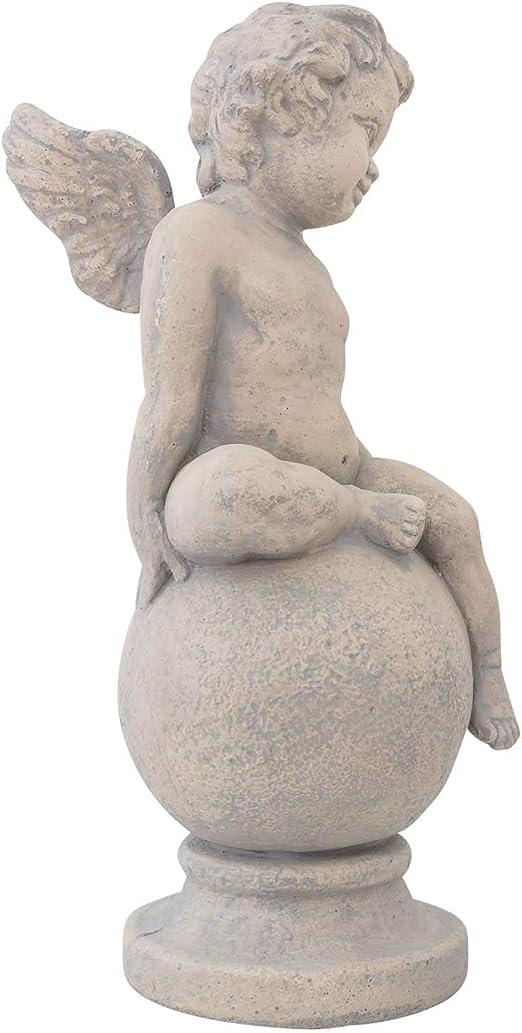 Escultura ángel Figura Estatua Piedra Artificial Estilo Antiguo jardín: Amazon.es: Jardín