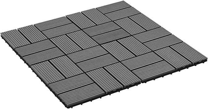 mewmewcat 11 Unidades Suelo Exterior de WPC,Baldosas Terraza Exterior Resistentes al Agua 30x30cm 1m² Gris: Amazon.es: Deportes y aire libre