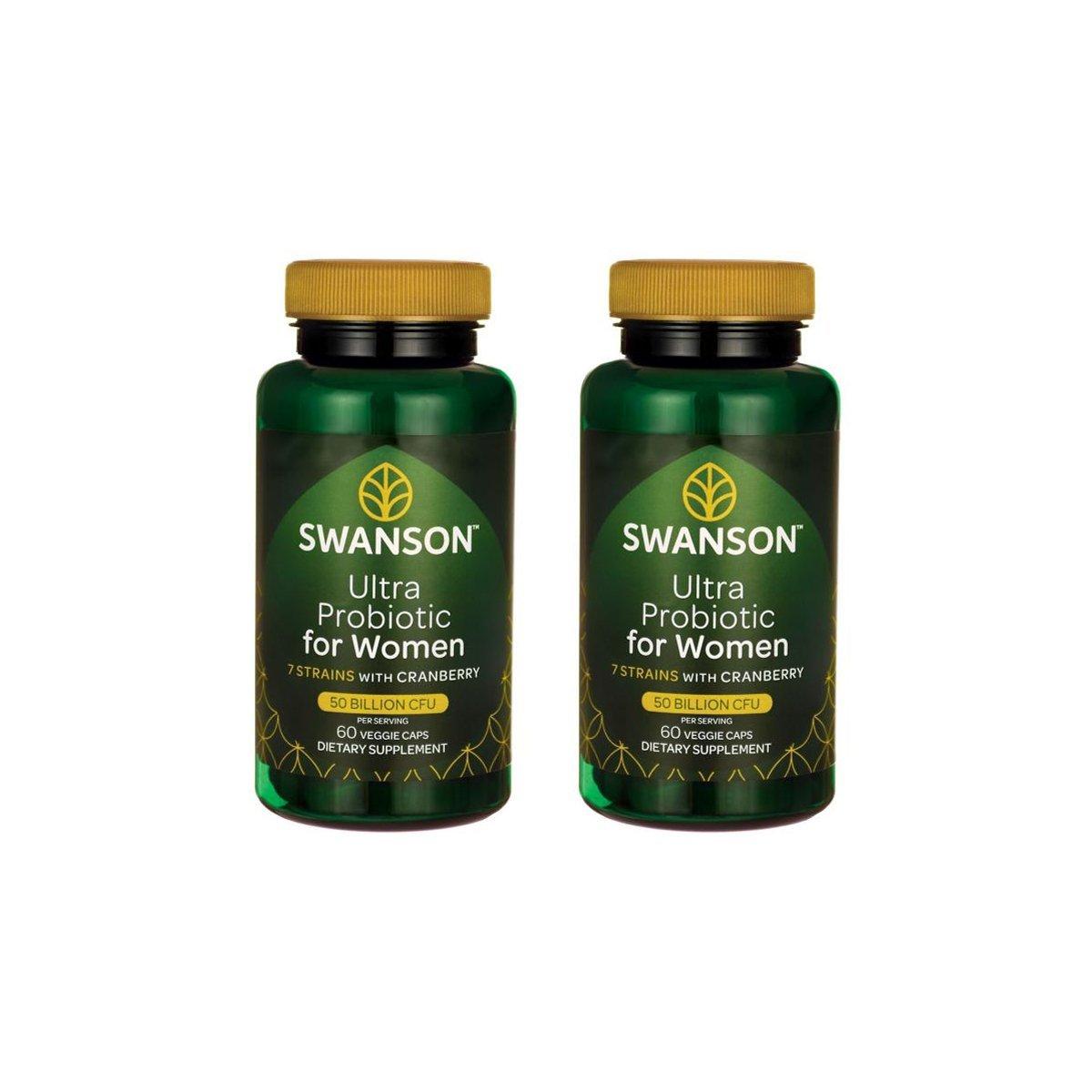 Swanson Ultra Probiotic for Women 25 Billion Cfu 60 Veg Caps 2 Pack