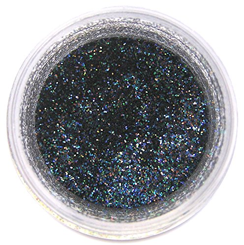 Super Black Disco Glitter Dust, 5 gram container