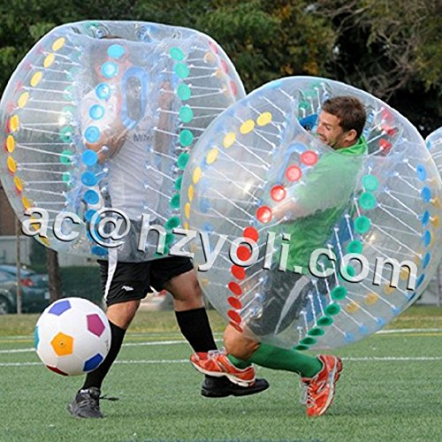 6' Football Inflatable (Nicky's Gift Bubble Soccer Football Inflatable Human Zorb Ball Bumper 1 7 M 5 6 ft Diameter)