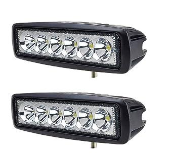 Annisking 2x18w Flood Beam 60 Degree LED Work Light Fog Light Jeep ...
