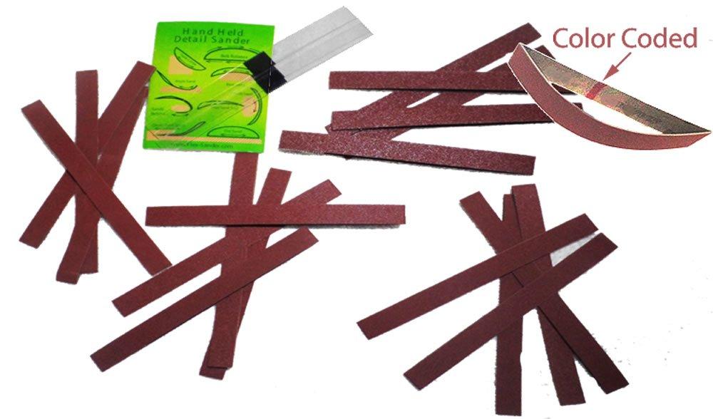 Flexible Micro Detail Hand Sander 24 pc Half Inch Kit Jerrys Flex-Sander