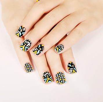 jovono corto étnico completo uñas postizas Tips Uñas Postizas Para Las Mujeres y Las Niñas: Amazon.es: Belleza