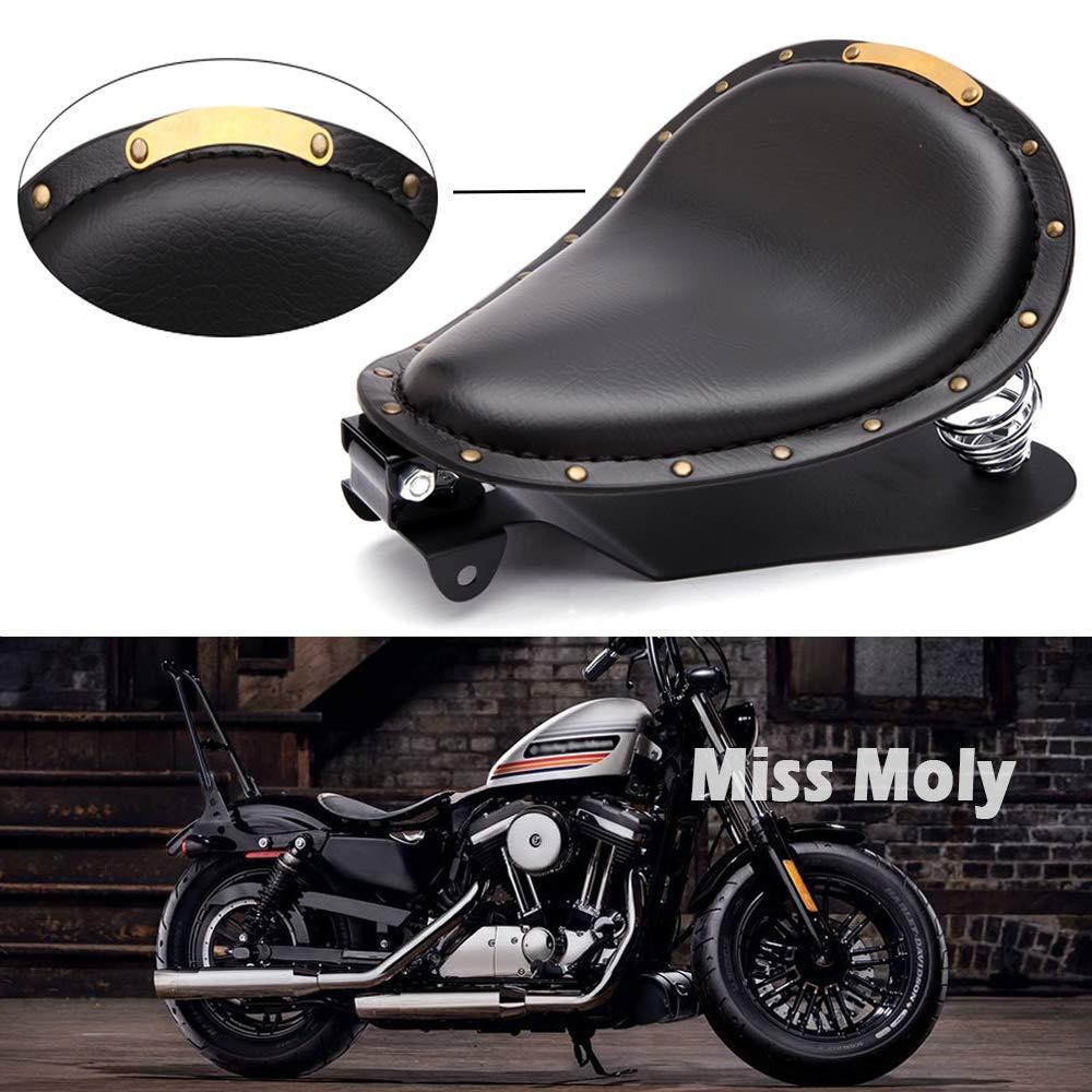 Sella Bobber per Motocicletta Marrone-1 Crocodile Sedile Moto per Sportster XL1200 883 48 Dyna Softail Fatboy Custom