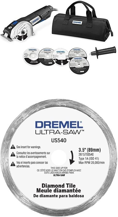 Dremel US40-03 Ultra-Saw Tool Kit with 5 Accessories and 1 Attachment w/ Tile Diamond Blade