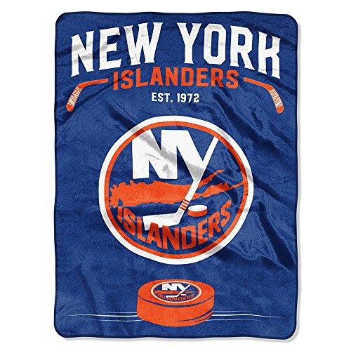 (The Northwest Company Officially Licensed NHL New York Islanders Inspired Plush Raschel Throw Blanket, 60