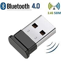 Bluetooth 4.0 USB Dongle, Bluetooth Stick, Unterstützt Bluetooth Kopfhörer, Maus, Tastatur, Druckern, PC, Bluetooth Adapter für PC Windows 10( Plug & Play), Win/8.1/8/7/Vista/XP