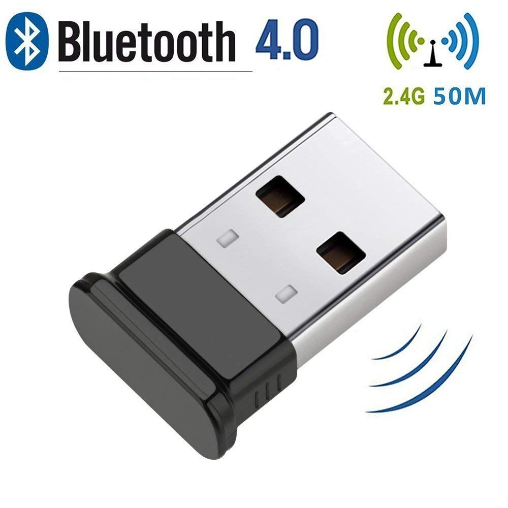 Bluetooth 4.0 USB Dongle, Bluetooth Stick, Unterstützt Bluetooth Kopfhörer, Maus, Tastatur, Druckern, PCs, Bluetooth Adapter für PC Windows 10( Plug & Play), Win/8.1/8/7/Vista/XP product image