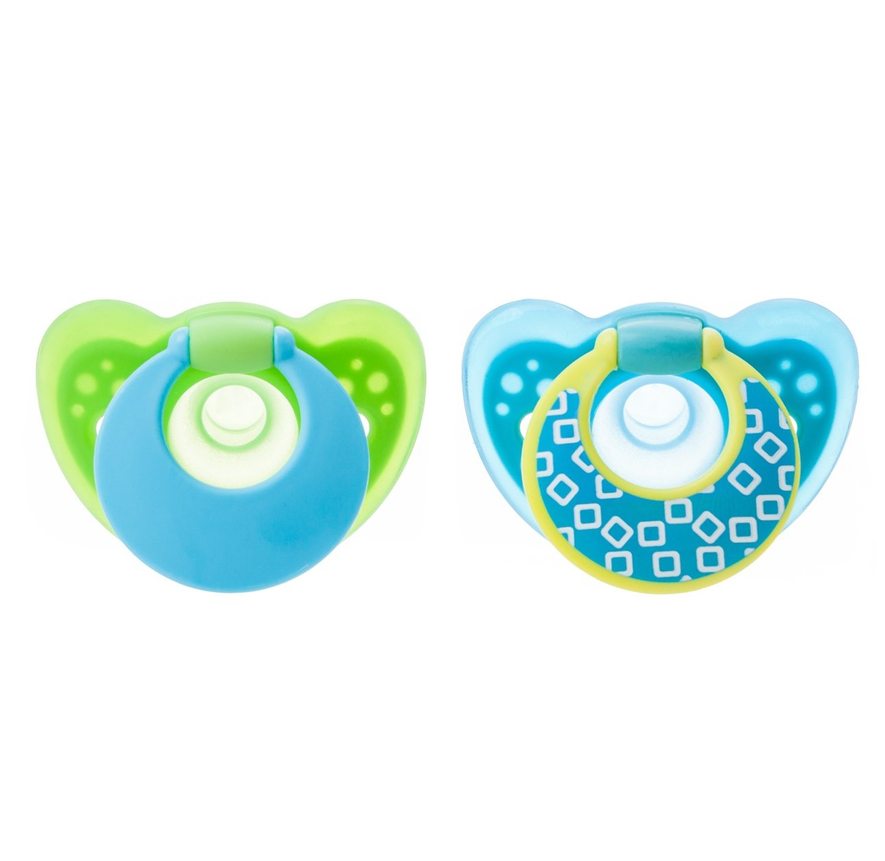 The First Years GumDrop Pacifier Blue//Green 6-18 Months by The First Years