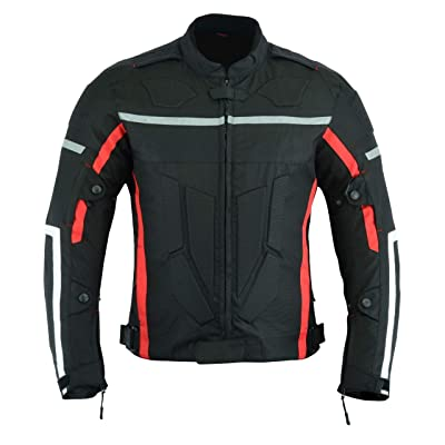"""Motorcycle Motorbike Armoured Mens with, Black, Size XL [Chest 44""""/112cm]: Shoes"""