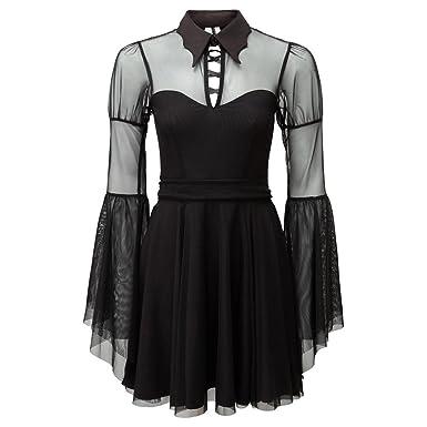 371185a1b1 Killstar Gothic Chiffon Kleid - Bound by Blood  Amazon.de  Bekleidung