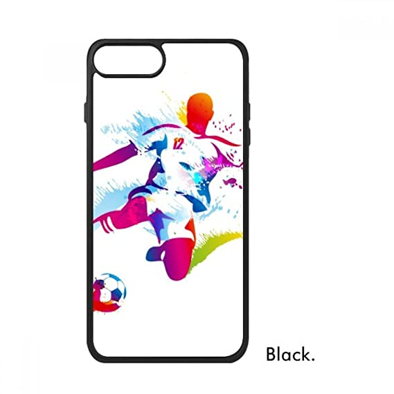 innovative design 060bd a0bae Amazon.com: Football Athletes Shooting Pattern for iPhone 8/8 Plus ...