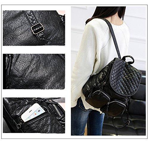 Zaino delle ragazze delle signore delle donne 2017 nuova borsa a tracolla femminile versione coreana del sacchetto di onda dell'onda sacchetti semplici degli allievi selvatici sacchetto di svago dello