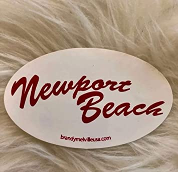 Newport Beach Sticker Red Small Circle Brandy Melville Sticker