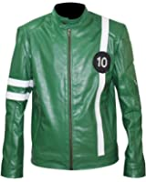 Ben 10 Ailen Swarm Green Costume Synthetic Leather Jacket