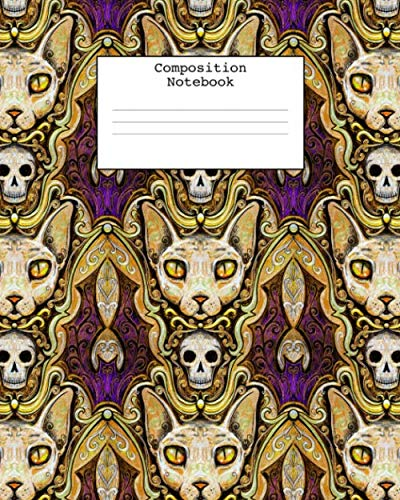 College Naked Halloween - Composition Notebook: Sphynx cats notebook, 100