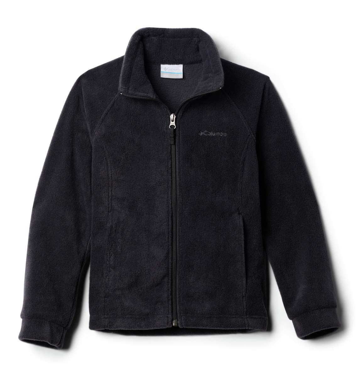 Columbia Girls Benton Springs Fleece Jacket, Black, Small (7/8) by Columbia