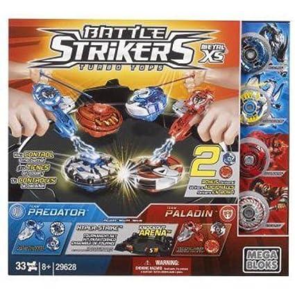 Mega Bloks - Torneo con 4 Peonzas Battle Strikers